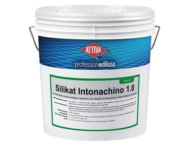 Rivestimento murale antialga a spessore con aspetto di intonachino a base silicato di potassio SILIKAT INTONACHINO 1.5