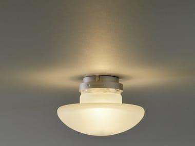 Lampada da soffitto in vetro sabbiato SILLABA | Lampada da soffitto