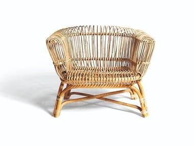 Malacca armchair with armrests SILVIA