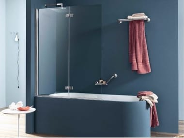 Folding glass bathtub wall panel SIM | Bathtub wall panel
