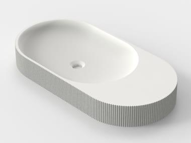 Countertop 3D printed quartz sand washbasin SIMBIOSIS C-02
