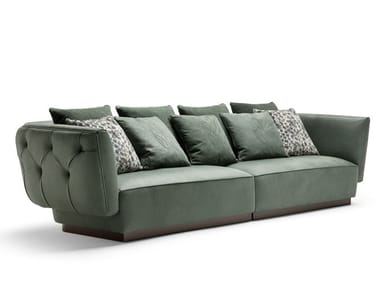 Tufted leather sofa SIMON