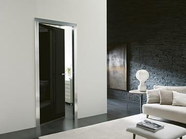 Hinged glass and aluminium door SIMPLE GEMINI