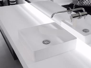 Lavabo da appoggio quadrato in Flumood® SIMPLO | Lavabo quadrato