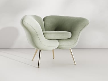 Fabric easy chair with armrests SINGLE MATILDA