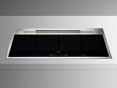 Induction built-in hob with integrated hood Class A++ SINTESI