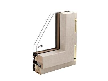 Finestra in alluminio e legno con doppio vetro SINTESI W70