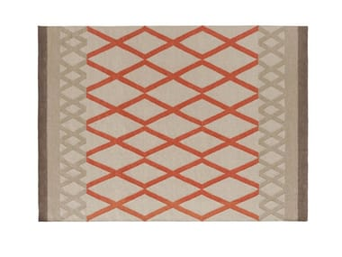 Wool rug with geometric shapes SIOUX