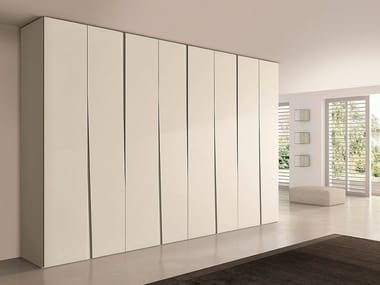 Sectional lacquered wooden wardrobe SIPARIO