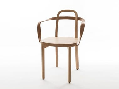 Oak chair with armrests SIRO+ | Chair with armrests