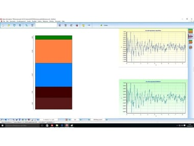 Processing geotechnical, penetrometer test SISMICA LOCALE 1D