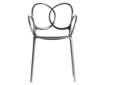 Chair with armrests in polypropylene with metal finish SISSI | Chair