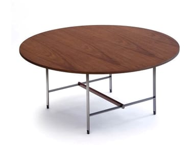 Low round walnut coffee table SISTERS | Walnut coffee table