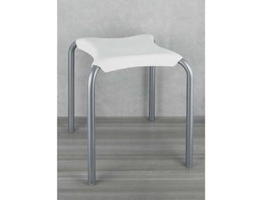 Sgabello in ABS e alluminio SIT | Sgabello per bagno in ABS