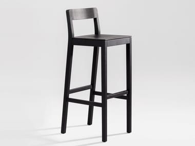 Solid wood barstool with footrest SIT BAR