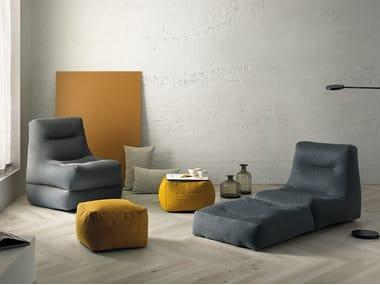Fabric armchair SIT POOL | Armchair