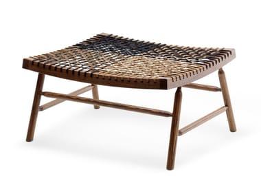 Poggiapiedi in legno massello e corda nautica SITAR | Poggiapiedi