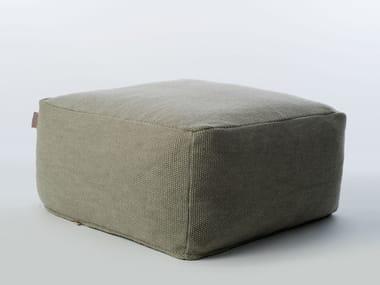 Square garden pouf SITE SOFT MOSS | Garden pouf