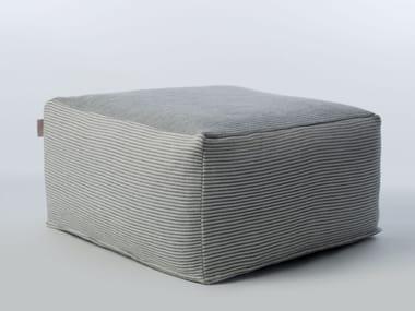 Square garden pouf SITE SOFT STRIPES | Garden pouf