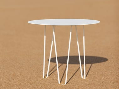 Round galvanized steel table SITGES