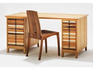 Wooden writing desk with drawers SIXTEMATIC   Writing desk