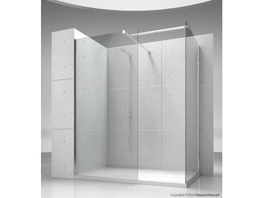 Cabine de douche d'angle sur mesure en cristal SK-IN SK+SK
