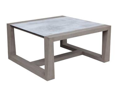 Tavolino da giardino quadrato in HPL SKAAL | Tavolino