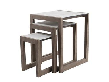 Tavolino da giardino di servizio quadrato SKAAL | Tavolino da giardino