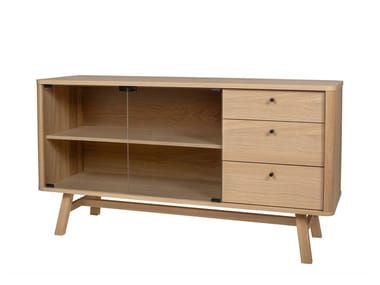 Wooden sideboard with drawers SKAGEN | Sideboard with drawers