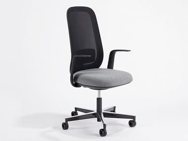 Swivel fabric office chair with armrests SKATE