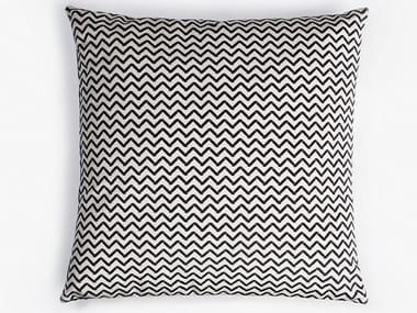Optical square fabric cushion with removable cover SKECH