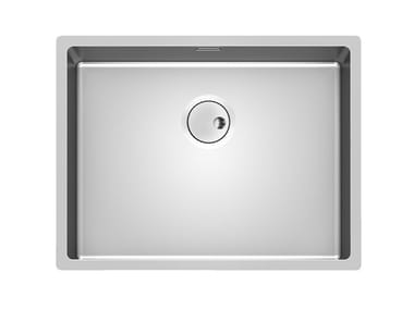Single stainless steel sink SKIN 53X40 R12 FT