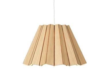 Lampada a sospensione in legno impiallacciato SKIRT | Lampada a sospensione in legno impiallacciato