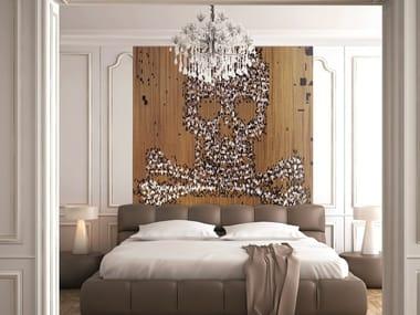 Aluminium chain curtain SKULL & BONES