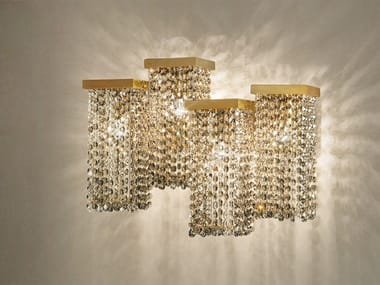 Direct light metal wall lamp with crystals SKYLINE A4
