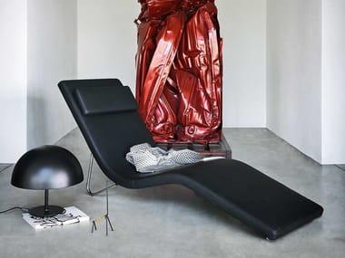 Chaise longue de cuero SLALOM | Chaise longue de cuero