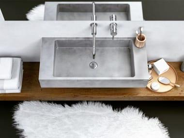 Single wall-mounted concrete washbasin SLANT 06 SINGLE
