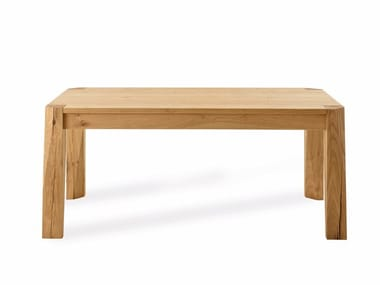 Extending rectangular oak table SLASH