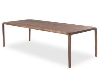 Rectangular wooden table SLEEK | Table