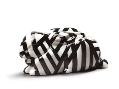 Porcelain decorative object SLEEPING BUNNY