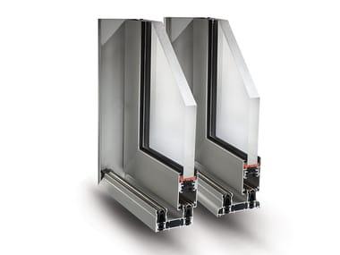 Aluminium thermal break window SLIDE 80/106 PLUS