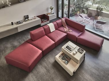 Corner Eco-leather sofa SLIDE | Eco-leather sofa