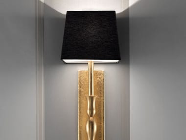 Direct-indirect light fabric wall lamp SLIM A1