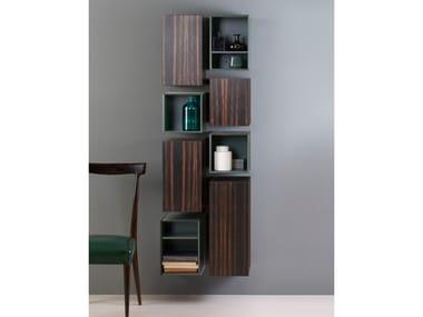 Tall ebony bathroom wall cabinet SLIM