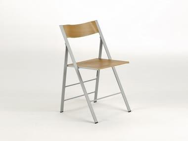 Chaise pliante en bois multi-niveau SLIM | Chaise en bois multi-niveau