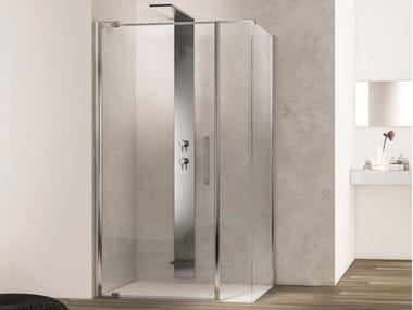 Corner glass shower cabin SLIM SLPL+SL2C