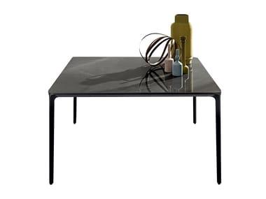 Square ceramic table SLIM SQUARE | Ceramic table