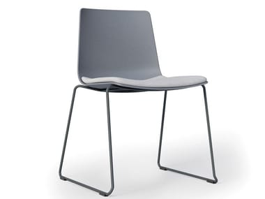 Sled base polypropylene chair SLIM | Sled base chair