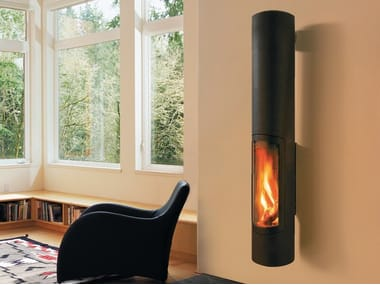 Wood-burning wall-mounted fireplace SLIMFOCUS | Wall-mounted fireplace