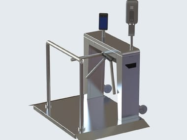Turnstile with integrated infection control solutions SLIMSTILE